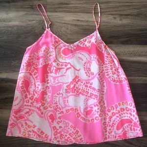 """Lilly Pulitzer """"Trunk in Love"""" Pixie Tank Top"""